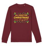 """FC De Kampioenen - Burgundy """"Dagschotel"""" Kerst Sweater"""
