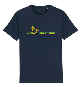 """FC De Kampioenen - Navy """"Mijn Infrastructuur"""" Unisex Shirt"""