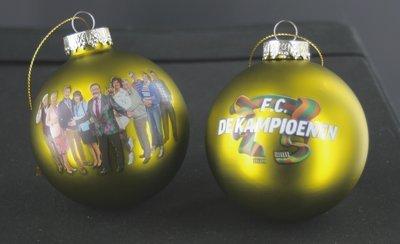 FC De Kampioenen - Kerstballen Geel