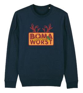 """FC De Kampioenen - Navy """"Boma Worst"""" Kerst Sweater"""